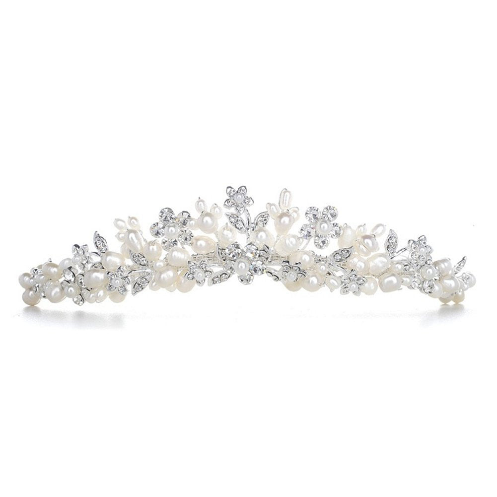 Bridal Tiara with Freshwater Clusters - Sophie's Favors and Gifts