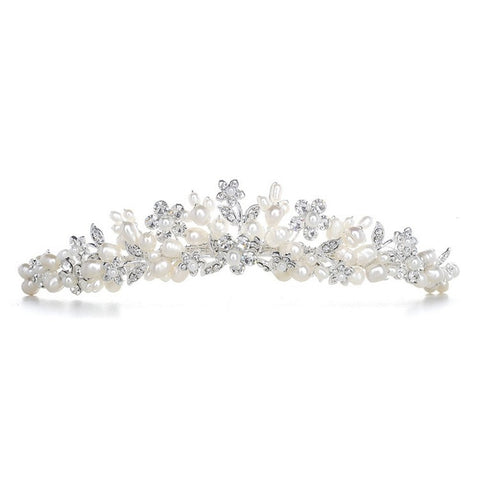 Bridal Tiara with Freshwater Clusters, bridal tiara, tiara for bride, tiara with pearls, pearl headband, Wedding Hair Accessories
