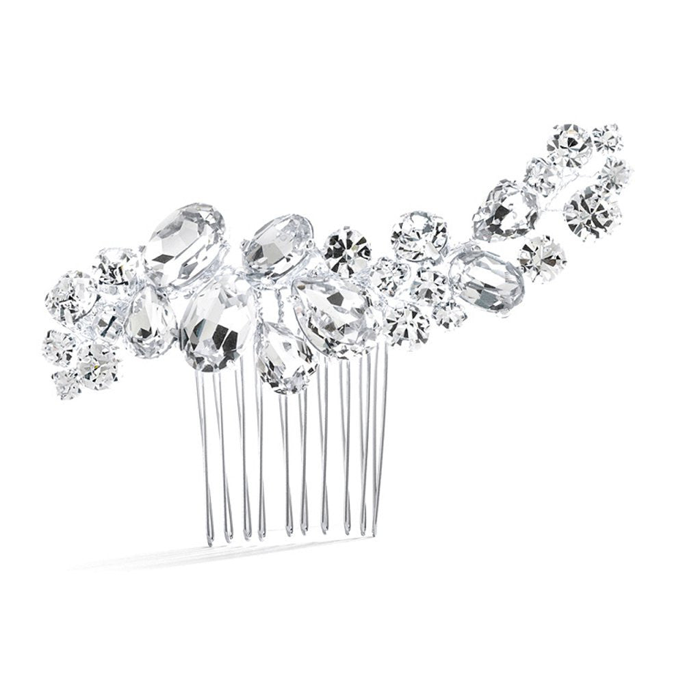 Bold Crystal Cluster Wedding or Pageant Comb - Sophie's Favors and Gifts