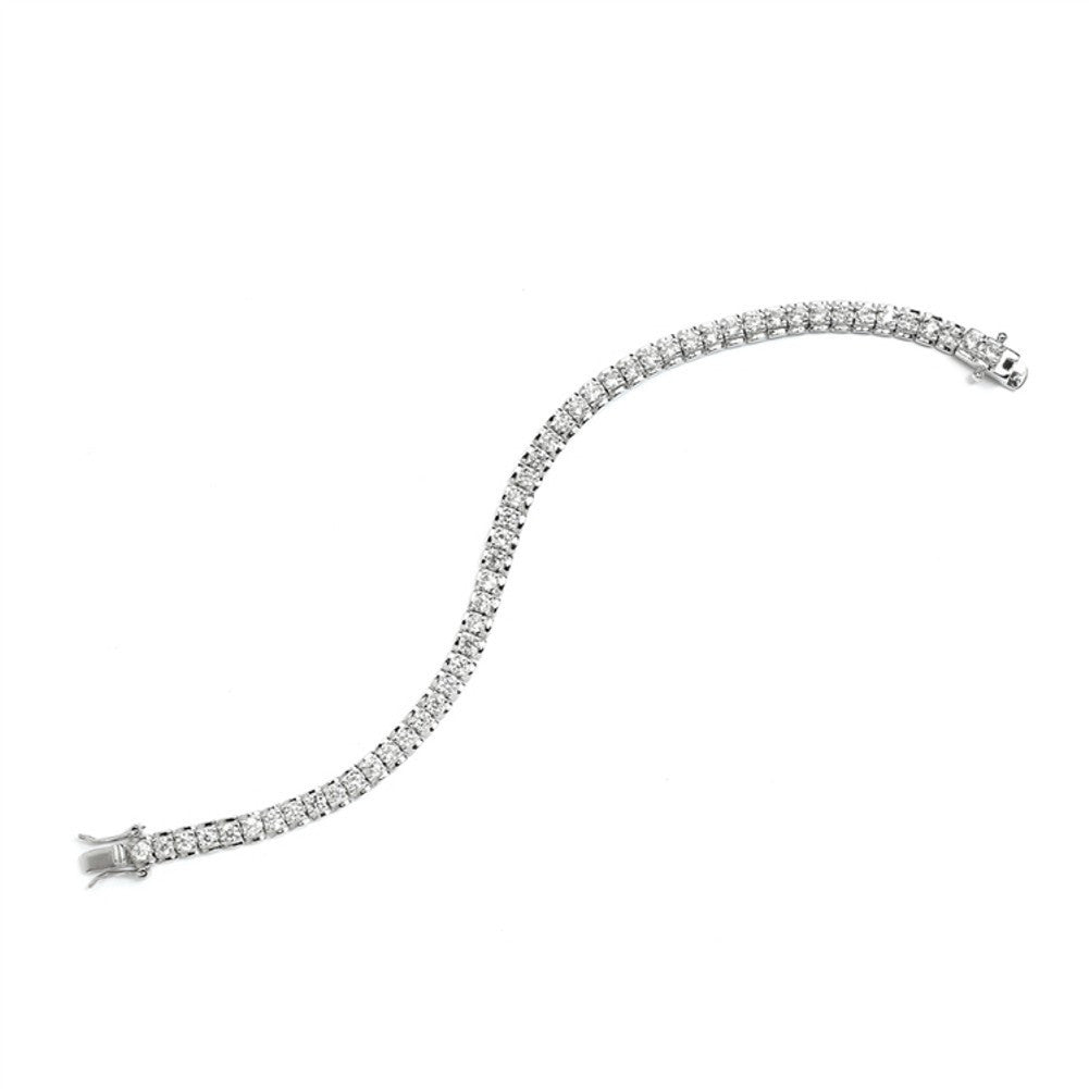 Cubic Zirconia Tennis Bracelet with Polished Frame - Sophie's Favors and Gifts