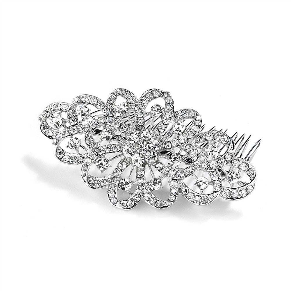 Dazzling Crystal Swirls Bridal or Prom Hair Comb, hair comb for wedding, wedding hair comb, wedding hair accessories, crystal hair comb, Wedding Hair Accessories
