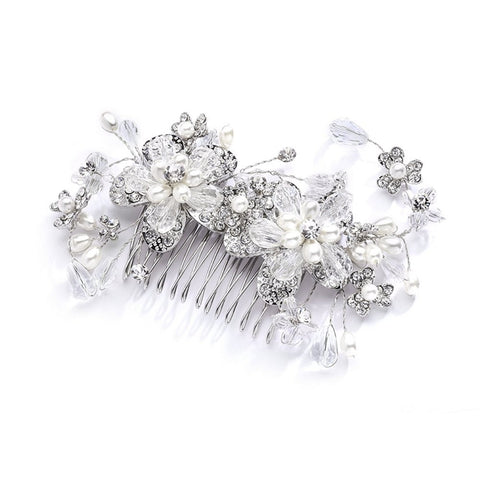 Fabulous Wedding or Brides Hair Comb with Pearl and Crystal Sprays, hair comb for wedding, wedding hair comb, wedding hair accessories, prom hair comb, Wedding Hair Accessories