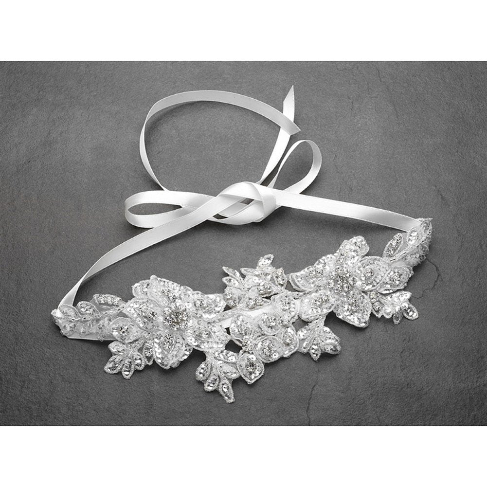 Sculptured White Lace Wedding Headband with Crystals and Beads, white bridal headband, wedding headband, bridal headpiece, wedding headpiece, Wedding Hair Accessories