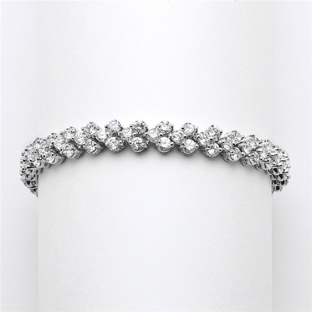 Petite Cubic Zirconia Wedding or Prom Tennis Bracelet - Sophie's Favors and Gifts