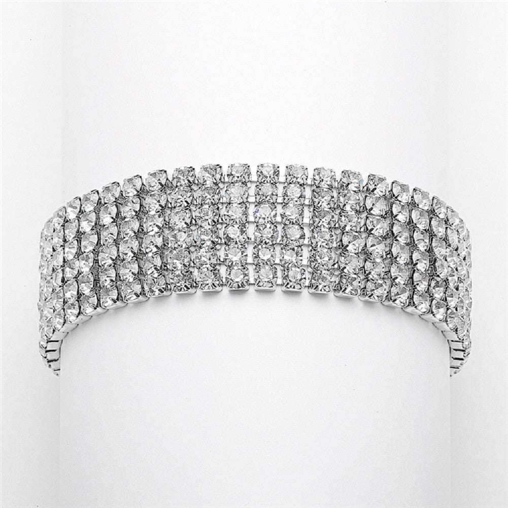 Petite Size 6-Row Rhinestone Prom or Homecoming Bracelet - Sophie's Favors and Gifts