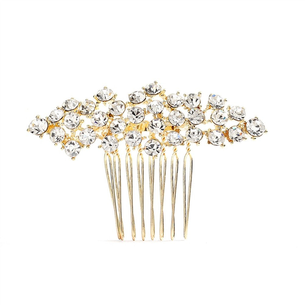 Best Selling Crystal Clusters Gold Wedding or Prom Comb, prom comb, wedding hair comb, crystal hair comb, crystal prom comb, Wedding Hair Accessories