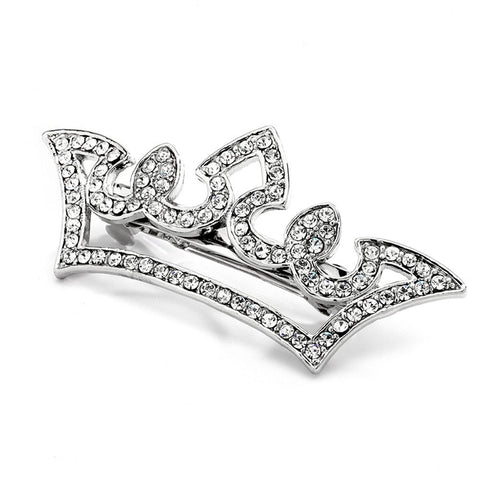 Pave Crystal Pageant Crown Barrette, wedding barrette, pageant barrette, princess hair accessories, crown barrette, Wedding Hair Accessories