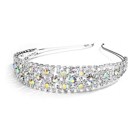 Shimmering AB Rhinestone Bold Headband - Sophie's Favors and Gifts