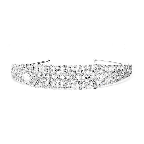 Shimmering Rhinestone Bold Headband for Weddings or Proms - Sophie's Favors and Gifts