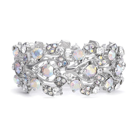 Bold Crystal AB Vine Wedding Stretch Bracelet - Sophie's Favors and Gifts