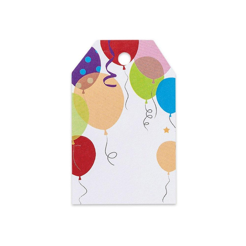 Party Balloons Printed Gift Tags - 2 1/4 x 3 1/2 - 50 Pack - Sophie's Favors and Gifts