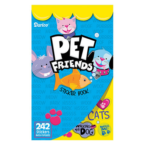 Darice Pet Friends Sticker Book - 242 Stickers - Sophie's Favors and Gifts