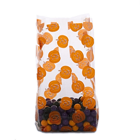 Pumpkins Halloween Cello Goodie Bags - 20/Pack (7.5in. x 3.5in.) - Sophie's Favors and Gifts