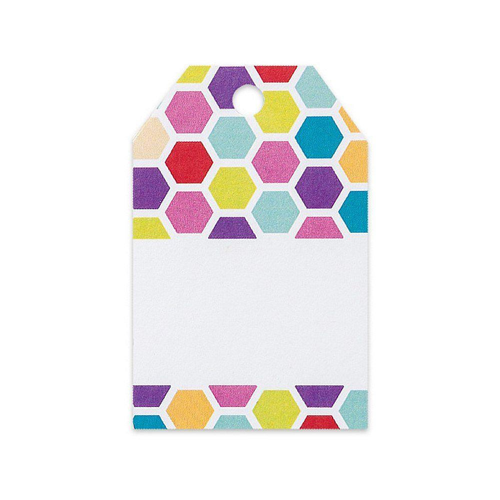 Rainbow Honeycomb Printed Gift Tags - 2 1/4 x 3 1/2 - 50 Pack - Sophie's Favors and Gifts