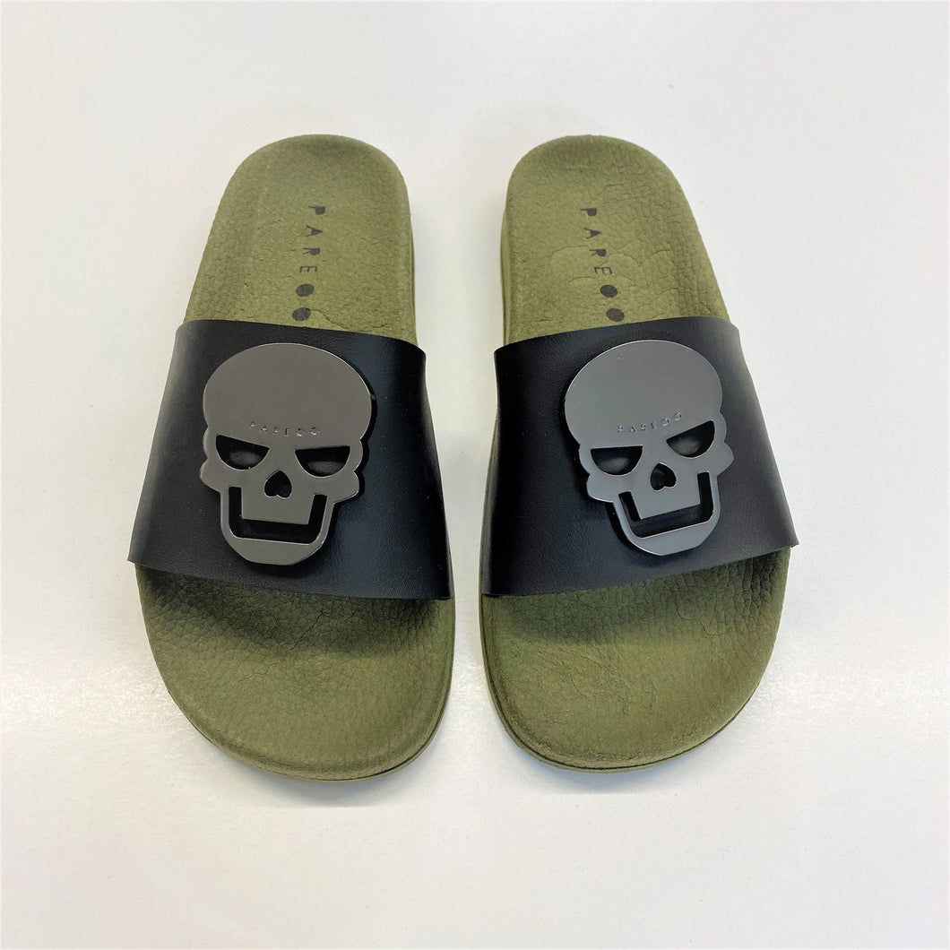 Skull Metal Badge Slides