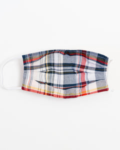 Holiday Plaid Large Face Mask
