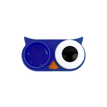 Load image into Gallery viewer, OH Fashion Contact Lens Case Owl Navy Blue