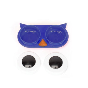 OH Fashion Contact Lens Case Owl Navy Blue
