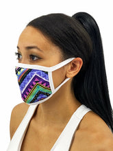 Load image into Gallery viewer, Colorful Aztec Face Mask With Filter Pocket
