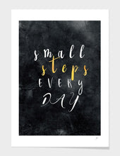 Load image into Gallery viewer, Small Steps Every Day Motivational Frame