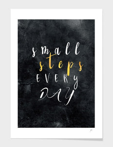 Small Steps Every Day Motivational Frame