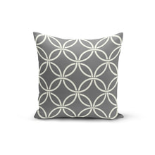 Load image into Gallery viewer, Grey Circle Interlock Pillow Cover