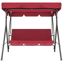 Load image into Gallery viewer, Terrace Swing Chair 2 Pieces / Set Universal Garden Chair Dustproof 3-Seater Outdoor Cover (Red)