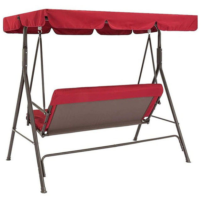 Terrace Swing Chair 2 Pieces / Set Universal Garden Chair Dustproof 3-Seater Outdoor Cover (Red)