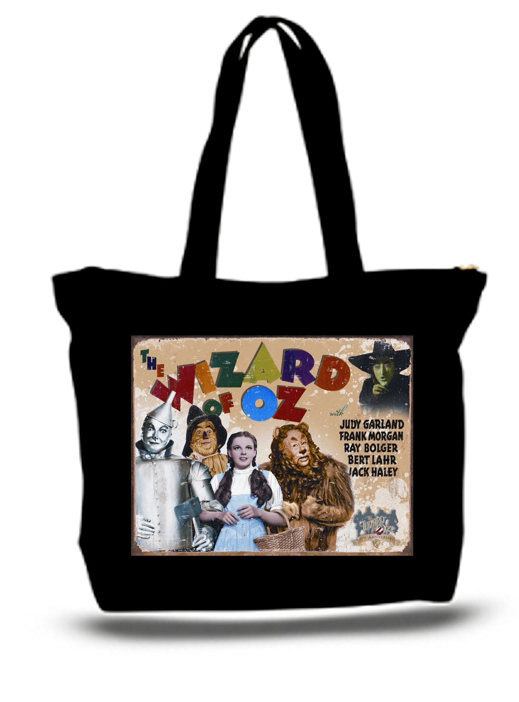Large  Tote Grocery & Stuff Bag Wizard Of Oz Sign