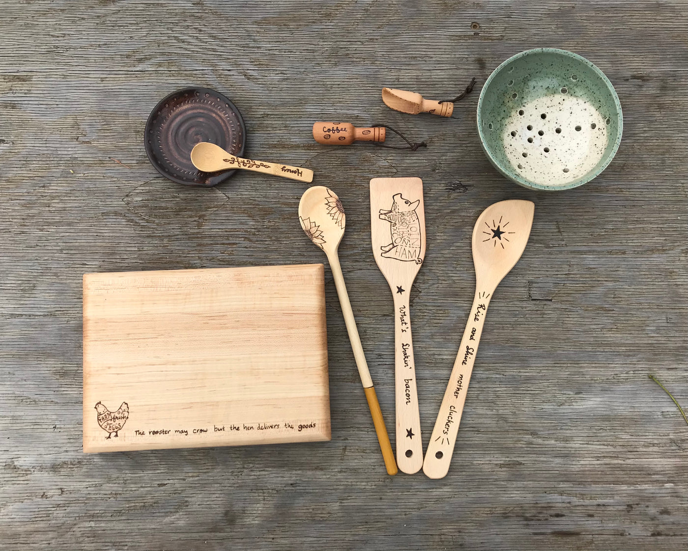 Wooden Cooking Utensil Care.  Wood Cutting Board Care.  Info on how to care for your wooden kitchen items so they will last a long time.
