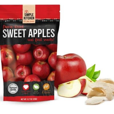 Freeze Dried Apple Snacks.  Long lasting pantry foods to keep in your cupboard.