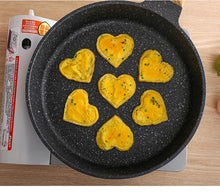 Load image into Gallery viewer, Silicone Egg and Pancake Maker with Heart and Flower Shapes