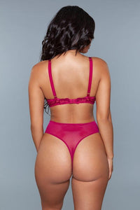 Belle Wine Bodysuit