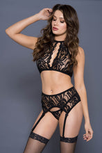 Load image into Gallery viewer, Open Halter Lace Set
