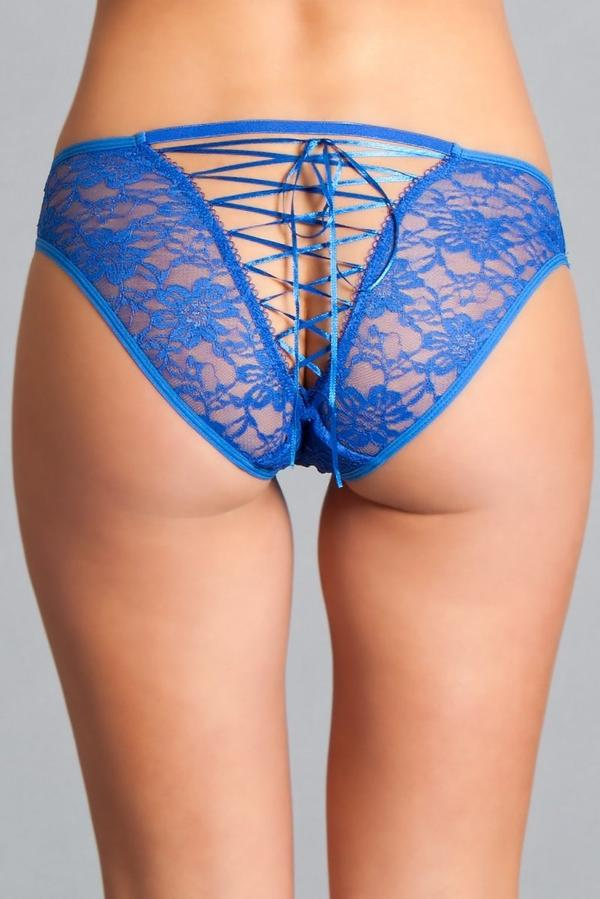 Delila Lace & Strap Panty Royal Blue