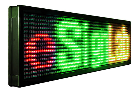 TX15 Series; Tri Color 15mm Pitch Programmable LED Sign