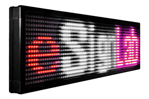 TX20 Series; 20mm Pitch Tri Color Programmable LED Sign