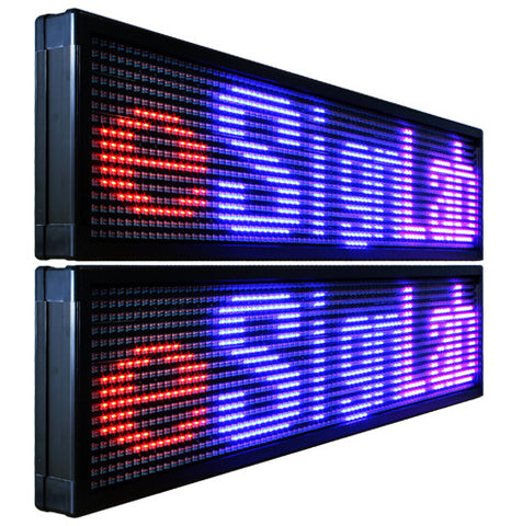 TX15D;15mm Pitch Double-Sided Tri Color  Programmable LED Sign