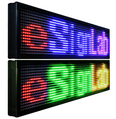 TX15MD;15mm Pitch Mixed Tri Color Double-Sided Programmable LED Sign