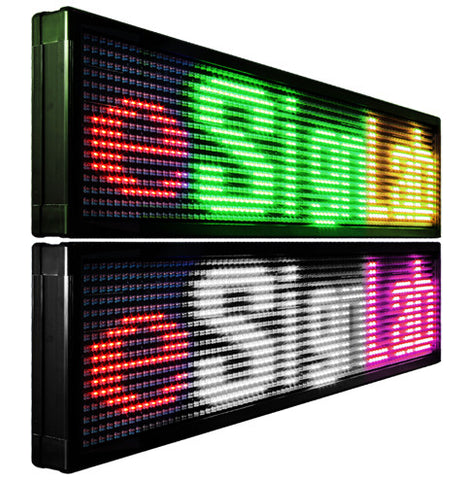 Pitch - 20mm Mixed Tri Color  Double-Sided Programmable LED Sign