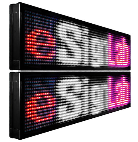 TX20D; 20mm Pitch Double-Sided Tri Color Programmable LED Sign