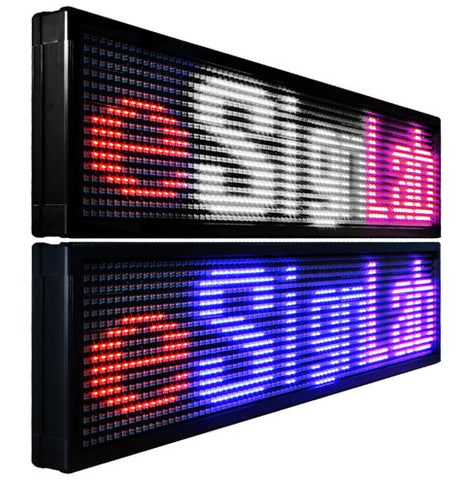 Pitch - 25mm Mixed Tri Color Double-Sided Programmable LED Sign