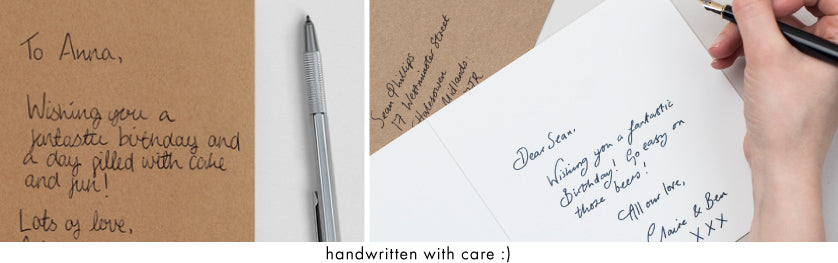 handwritten with care