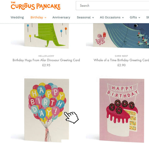 Step one: select a greeting card from our collection.