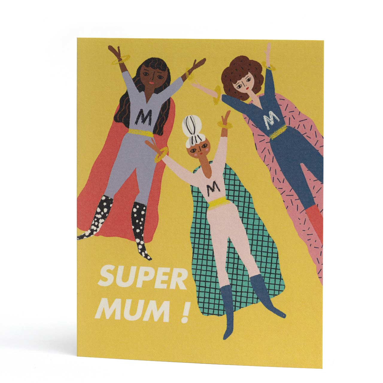 Super Hero Mum Greeting Card