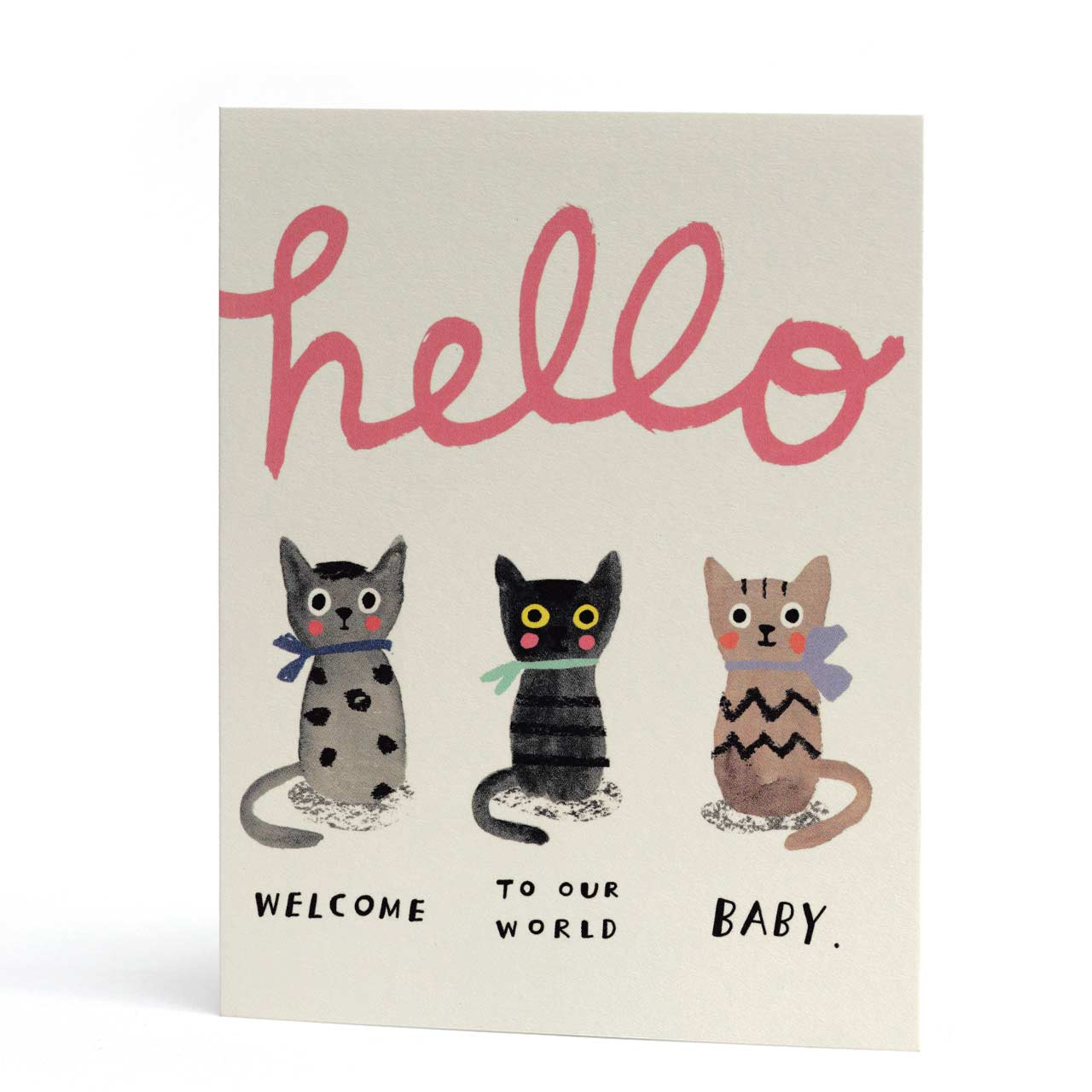 Three Little Kittens New Baby Card