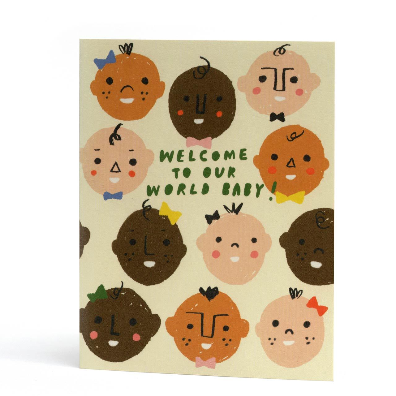 Welcome To Our World Baby Greeting Card