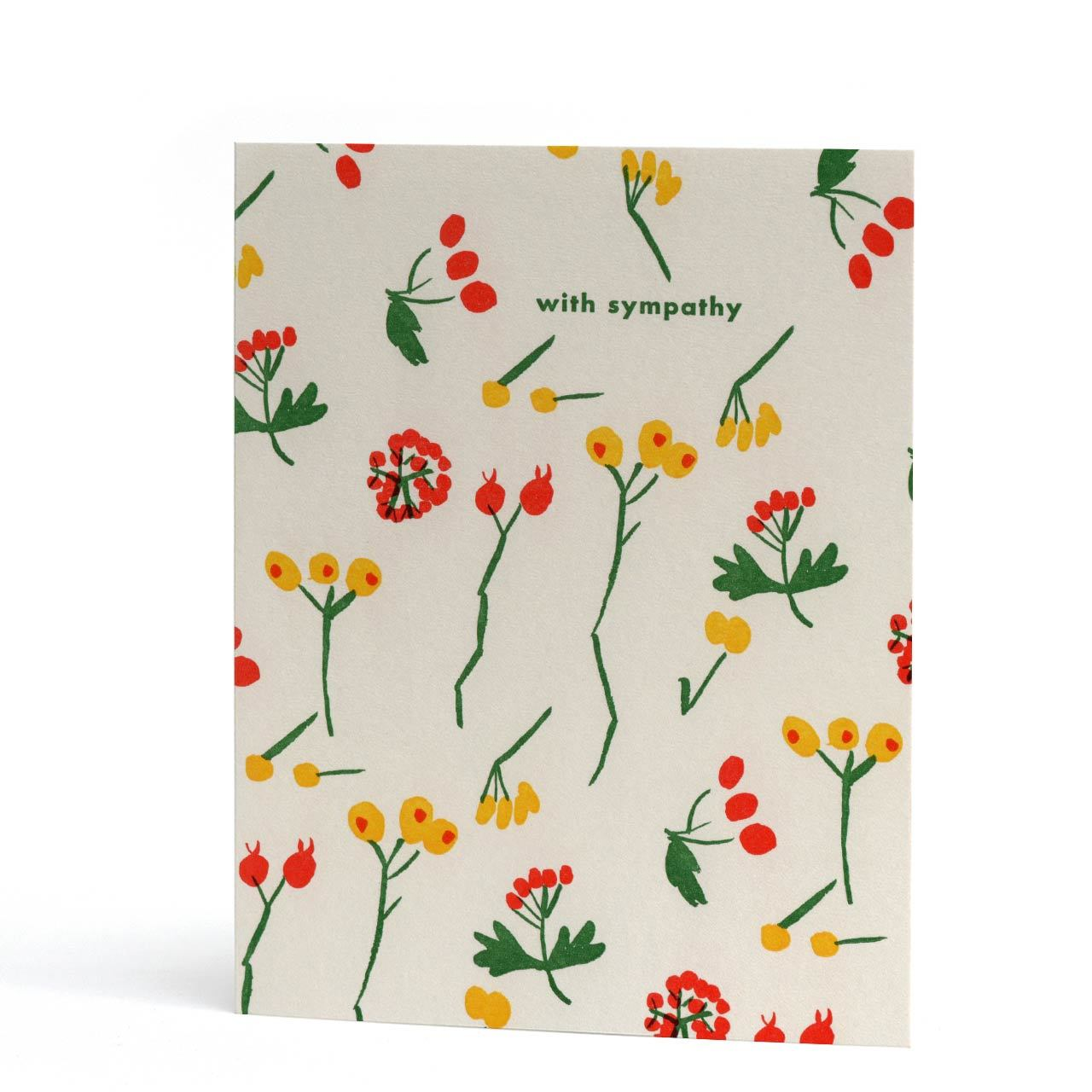Berry Sympathy Letterpress Greeting Card