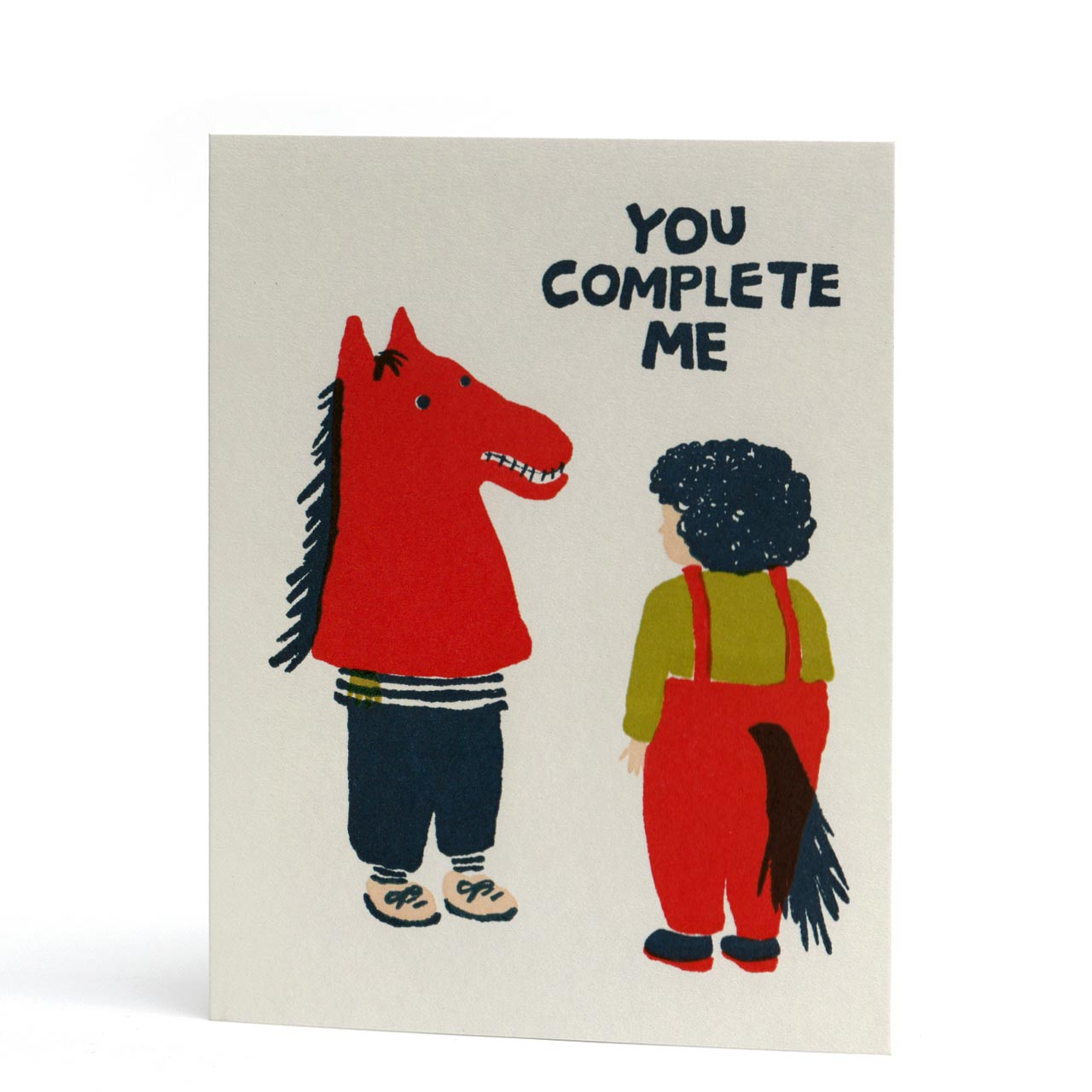 You Complete Me Letterpress Greeting Card