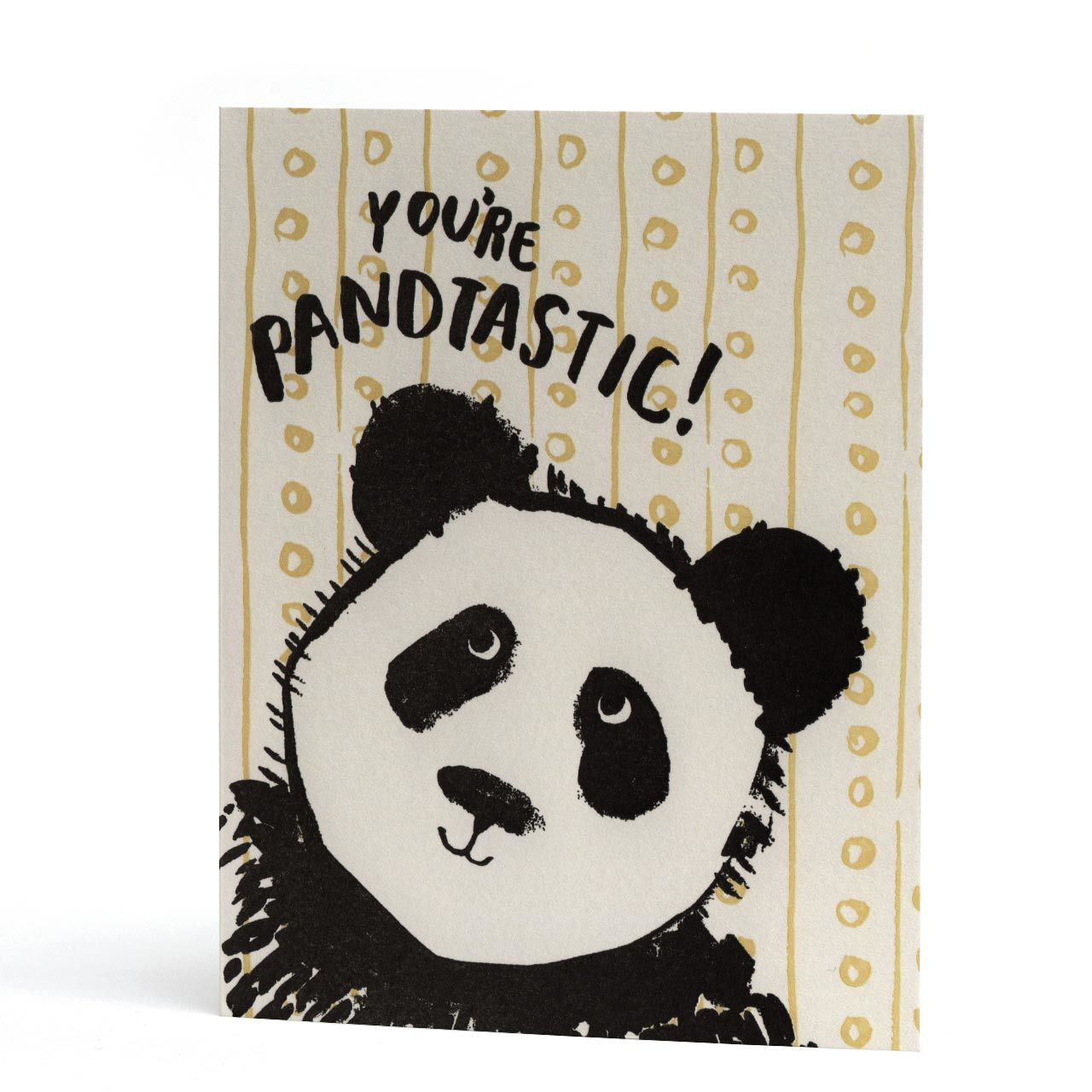 You're Pandtastic Letterpress Greeting Card
